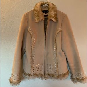 Montanaco Faux Fur Zip Up Jacket